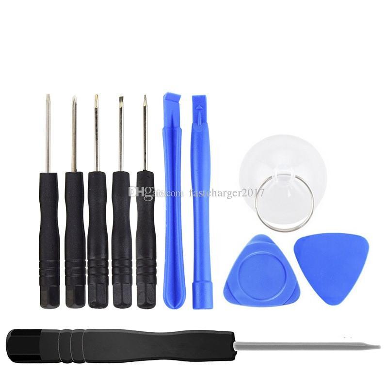 10 dans 1 Outils d'ouverture Kit, Pry Repair Tool avec un tournevis pour iPhone Samsung Galaxy s8