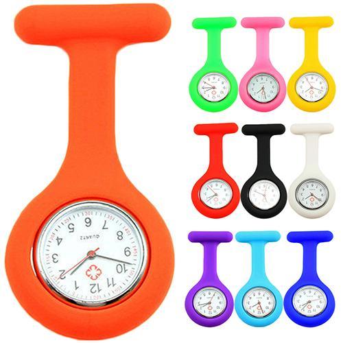 Großhandels-Neue nette Silikon-Krankenschwester-Uhr-Brosche Fob-Taschen-Tunika Quarz-Bewegung Uhr N76Y