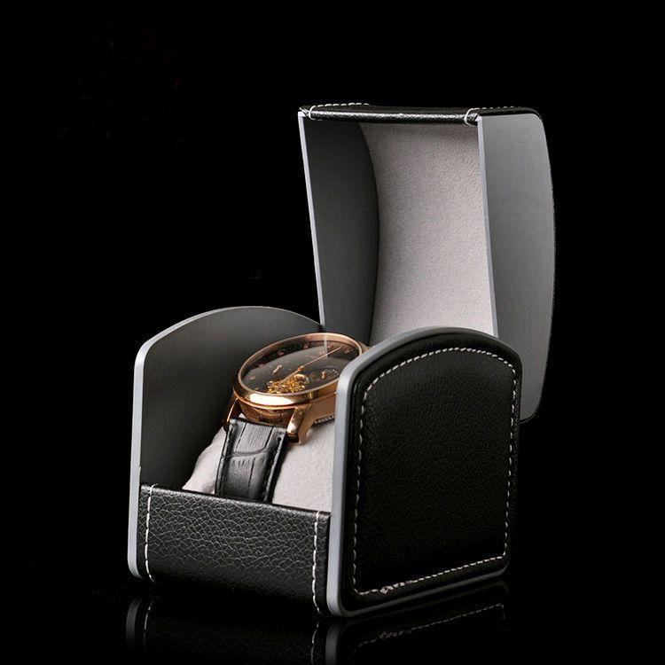 Scatola di orologi di alta qualità Scatola di orologi in PU scatola di orologi in pelle nera rossa