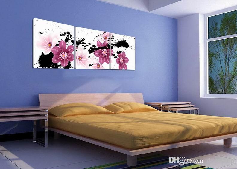 캔버스 홈 장식 벽 예술 Set30373에 현대 아름 다운 꽃 좋은 꽃 회화의 giclee 인쇄