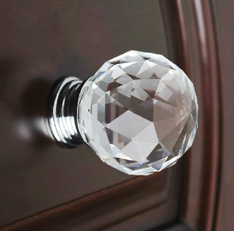 10шт Современная мода Кристалл K9 стекла Алмазный Мебель Ручки Оборудование Выдвижные Шкаф Кухонные шкафы Тумба двери Прицепные регуляторам Оптовая