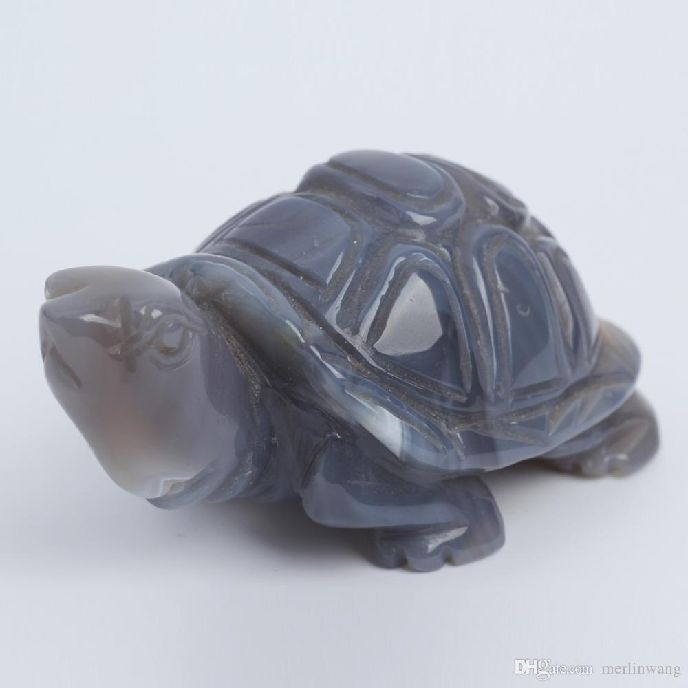 3.2inch Quartz crystal Tortoise Figurine Carving Stone Longevity Chakra Healing Reiki Stones Carved Craft crystal tortois Free Shipping