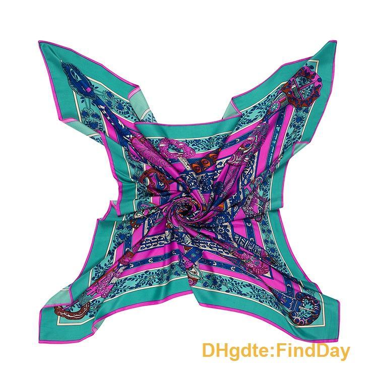 La canzone unicorno della signora in stile francese nuova sciarpa scialle di seta twill primavera 130 centimetri