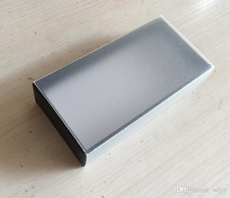 Caja de embalaje de plástico y papel de 10 piezas Caja translúcida esmerilada PVC y caja de papel Tamaño 97x50x22 mm 3.82 x 1.97 x 0.87 pulgadas