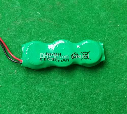 500packs /Lot Wholesale 80YH 80mAh 3.6V rechargeable button cell battery pack NiMH battery pack
