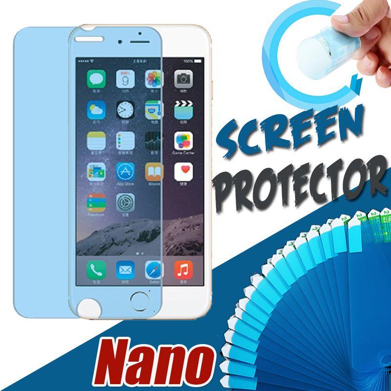 ナノ防爆メンブレンソフトスクリーンプロテクターカバレッジiPhone 13 Pro最大12ミニ11 xs xr x 8 7 6 6s Plus SE 2020のための透明な保護フィルムガード