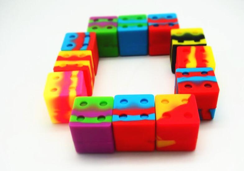 Conteneur en silicone Square NO-Stick 9 ml BHO Box Box Boîte à baignoire JAR Nouveau support d'huile DAB JAR
