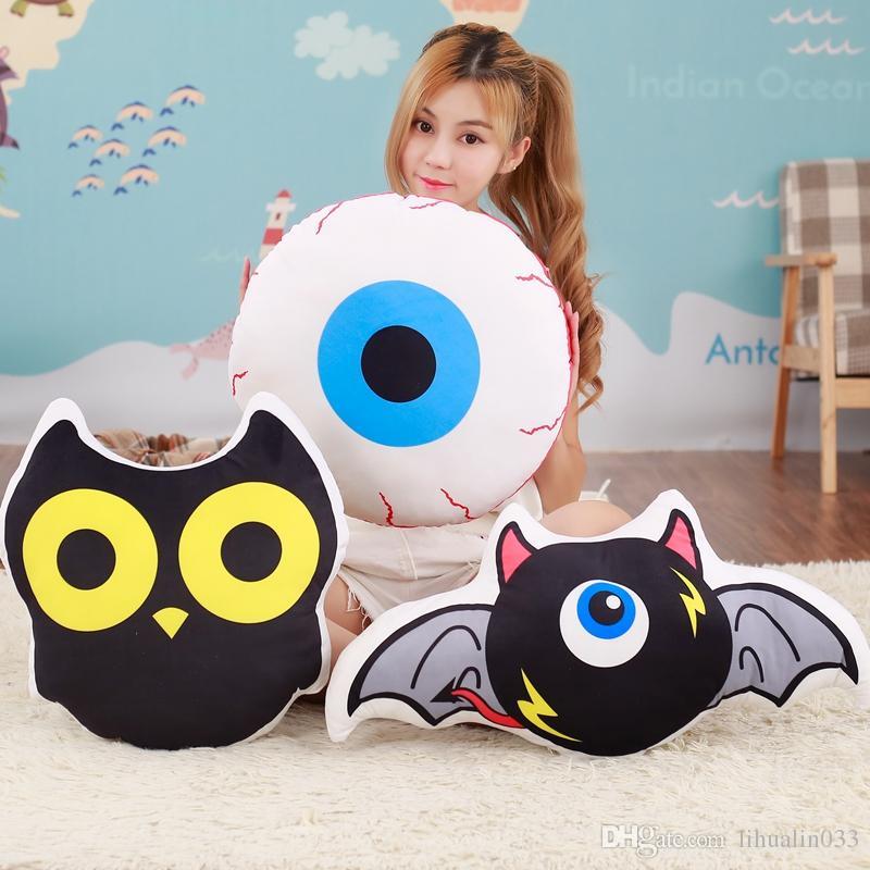 Tamanho Grande 1PC criativa dos desenhos animados Bat Eye Pillow Plush Doll Toy Macio Owl pano Pillow Almofada Home Decor
