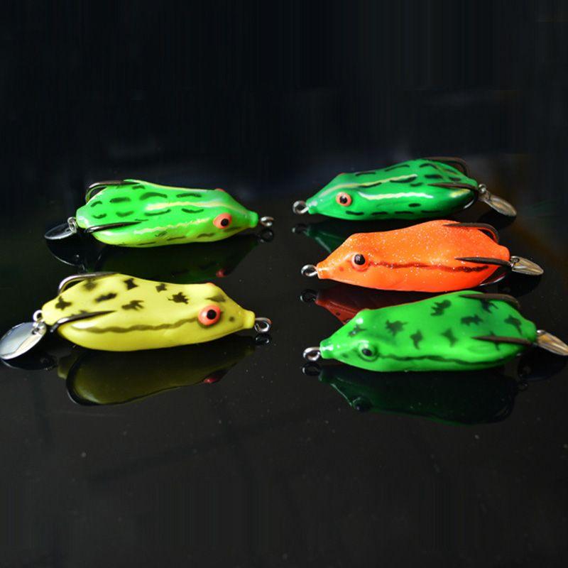 Snakehead Lure Frog Double Crochet Avec Lame De Cuillère 7cm / 10g Crochets Barbelés Artificiels Leurres
