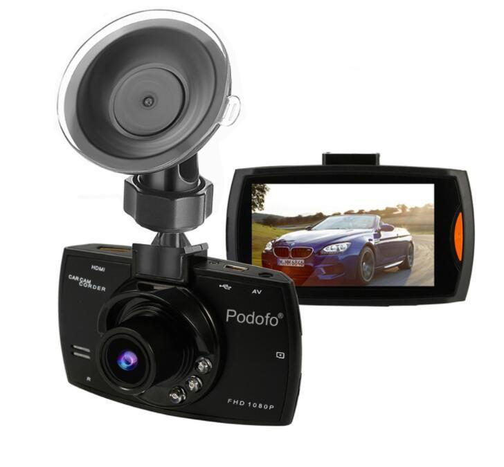 Telecamera per auto Podofo DVR G30 Full HD 1080P 140 gradi Dashcam Video Registrar per auto Night Vision G-Sensor Dash Cam