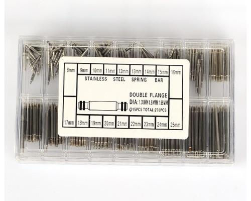 Orologiaio adatto 270pcs / set full size watchear 8-25mm orologio in acciaio inox antivibranti a doppia flangia strumenti Ouvre Montre