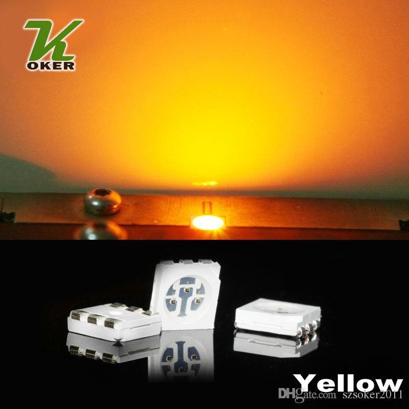 1500PCS 15-18LM giallo PLCC-6 5050 SMD 3-CHIPS LED diodi a lampada Ultra Bright SMD 5050 SMD LED spedizione gratuita