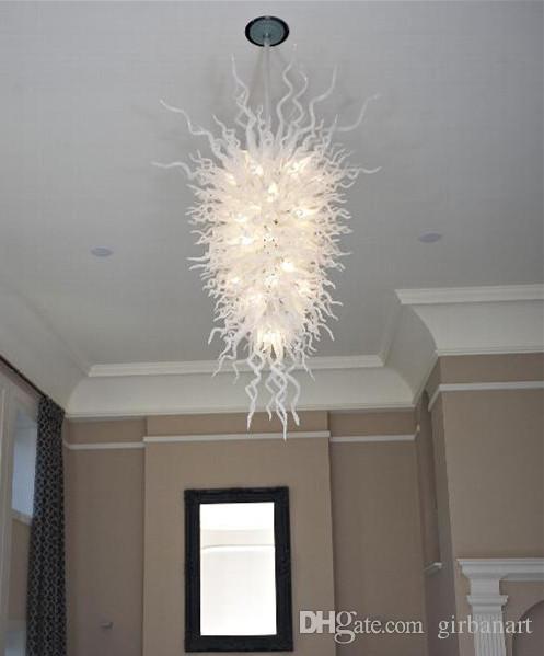 Zhongshan Lustre supérieure la qualité du lait blanc AC 110v-240v Ampoules à LED 100% à la main en verre soufflé Lustre moderne pour la maison Décoration