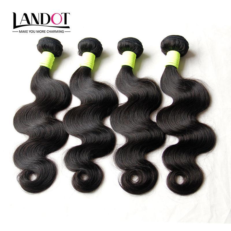 도매 10 묶음 1KG 처리되지 않은 8A 페루 말레이시아 인디언 브라질 바디 웨이브 버진 레미 인간의 머리카락은 자연 색상 Dyeable