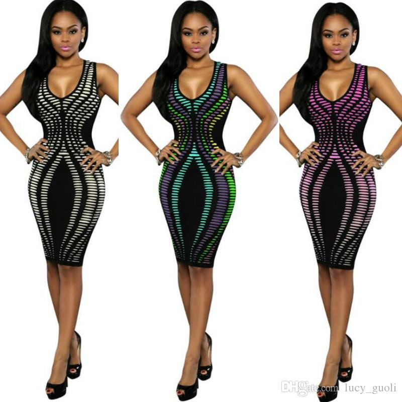 2016 Women Summer Dress Robe Sexy Bodycon Party Dresses Plus Size Sleeveless Sundress Pencil Casual Polka Dot Dress print club dress Vestido