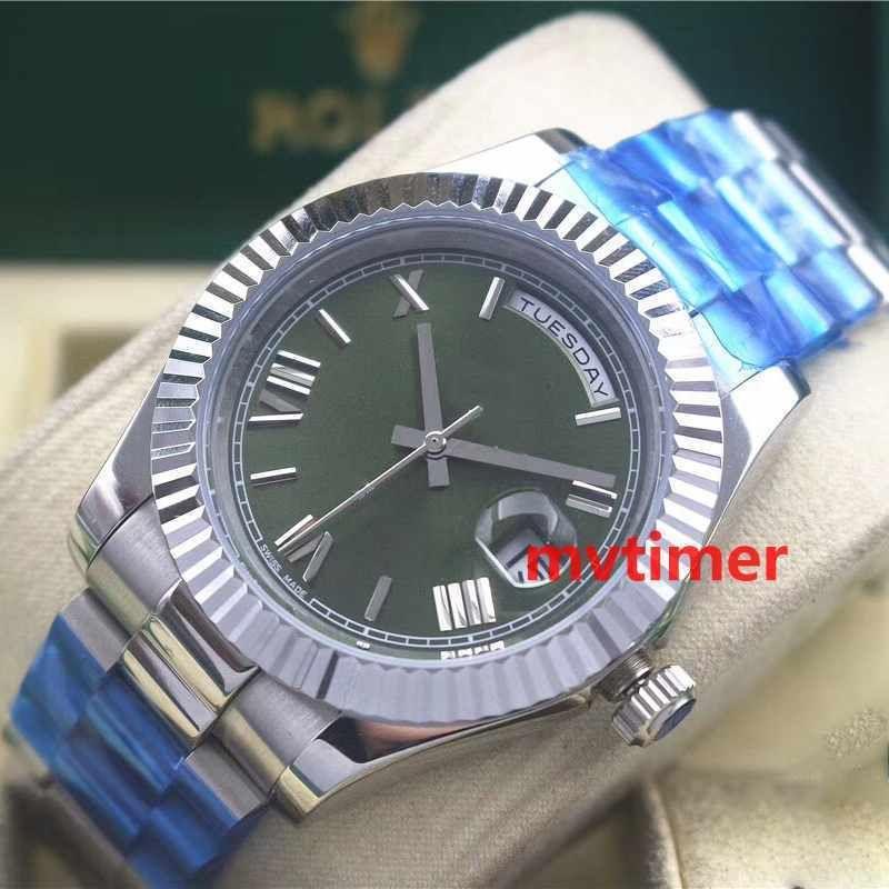 Luxury Mens orologi di moda di lusso DayDate Mens Watch Day-Date Presidente orologi automatici uomini lunetta zigrinata fibbia pieghevole da polso