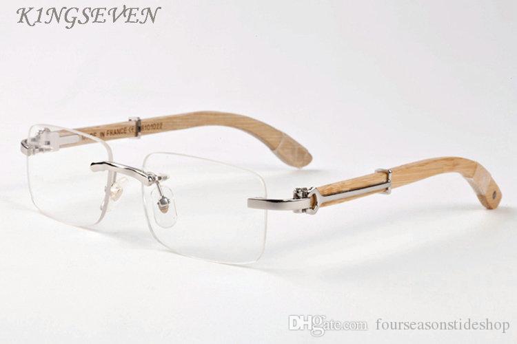 Popular chifre de búfalo óculos para homens originais de madeira óculos de sol para as mulheres retangular preto cinza claro lente sem aro vêm com caixa de óculos