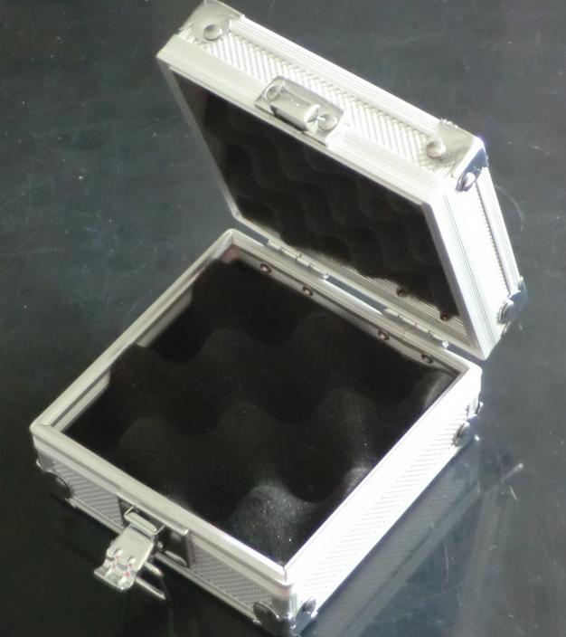 Caja de plata de aluminio de la aleación 1Pc para el equipo de la fuente de las máquinas del arma del tatuaje