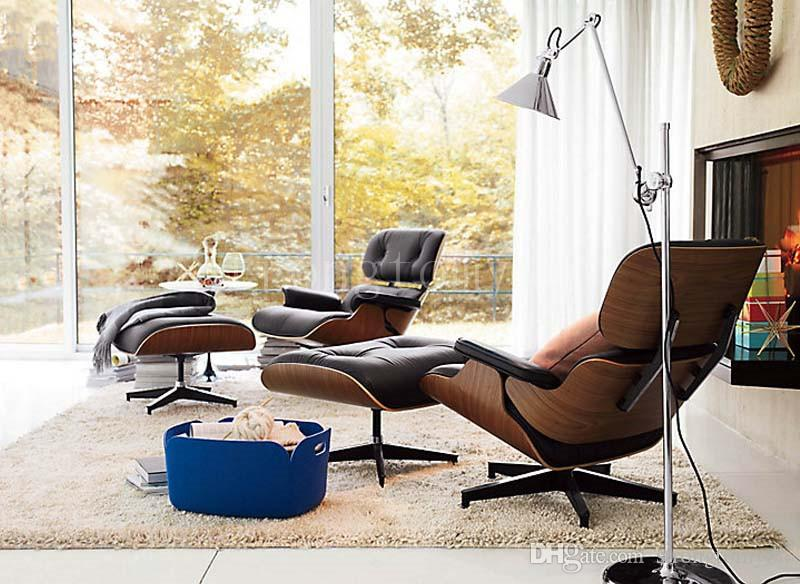Eames Lounge Chair Modern Bedroom Living Room Chair Lazy Chair Furniture  Sale Genuine Leather Fashion Cool