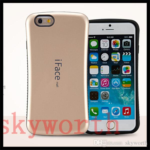 For iphone 7 6 6S Plus 5SE iface Hybrid Candy Hard Plastic case Samsung Galaxy S8 plus S7 edge S6 Note5 TPU cover