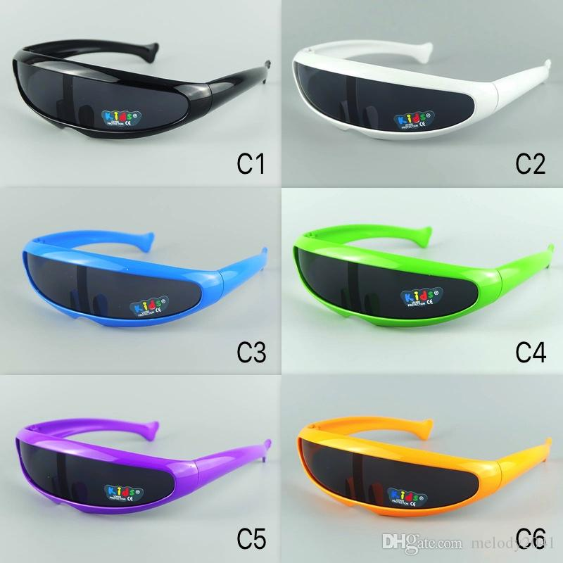 Kinder Sonnenbrillen Alien Kinder Sonnenbrille Kühle Sportbrille Bunte Rahmen 6 Farben Gemischte Partei Eyewear Fischbeine