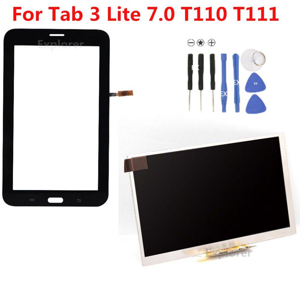 Per Samsung Galaxy Tab 3 7.0 Lite SM-T110 T111 Schermo tattile Scheda 4 Lite T116 T113 Schermo LCD Pannello di ricambio 1 pz