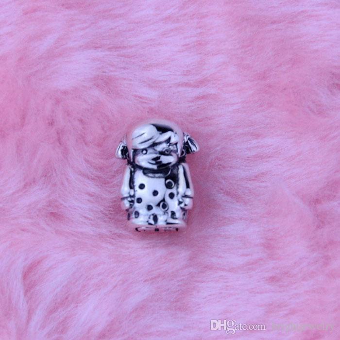 Neuer authentischer 925 Sterlingsilber bördelt silbernen Charme des Mädchens für Frauenmodeschmucksachen für Pandora-Art-Armbänder