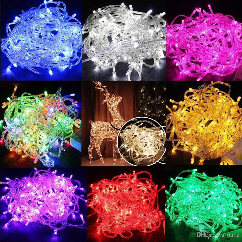 Светодиодные полосы 10 м строка украшения свет 110 В 220 В для свадьбы партии светодиодные мерцание освещение рождественские украшения огни строка