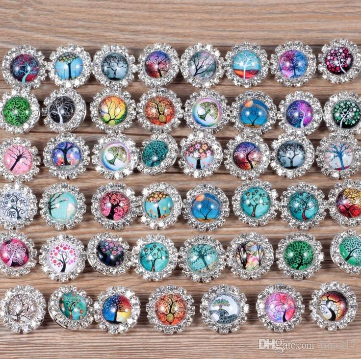 New 18 mm noosa button DIY button pendant earrings bracelet accessories foreign trade jewelry supplies Metal Snap Button 4053