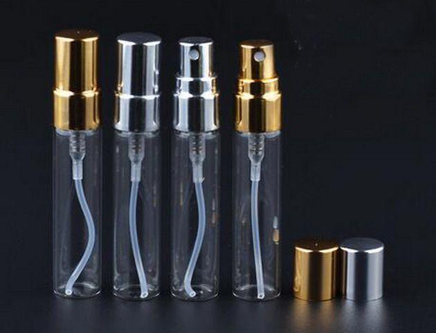 Garrafa de vidro preço de fábrica 5ml Atomizador fino da névoa Spray Fragrance Perfume vazio Perfume Garrafa 200Pcs / lot por DHL frete grátis