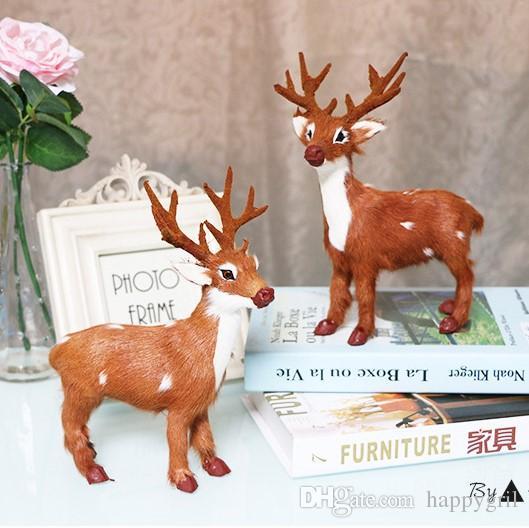 Navidad Muñeco de simulación Elk Decoración del árbol suministra los artículos de equipamiento Ciervos regalos de Navidad la decoración del hogar