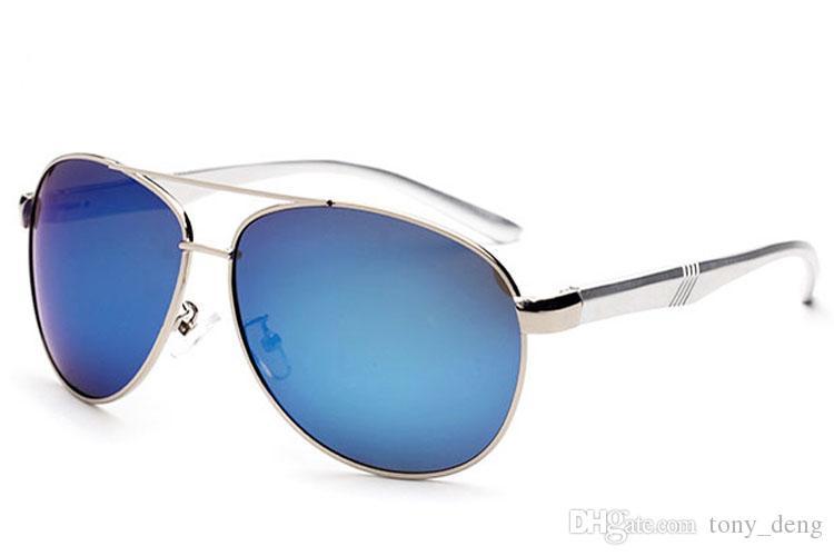 Óculos De Sol Para Homens Moda Espelho Óculos Polarizados Sunglases Alta Qualidade Al-Mg Pé Polar Sunglass Designer De Luxo Óculos De Sol 1L6A7