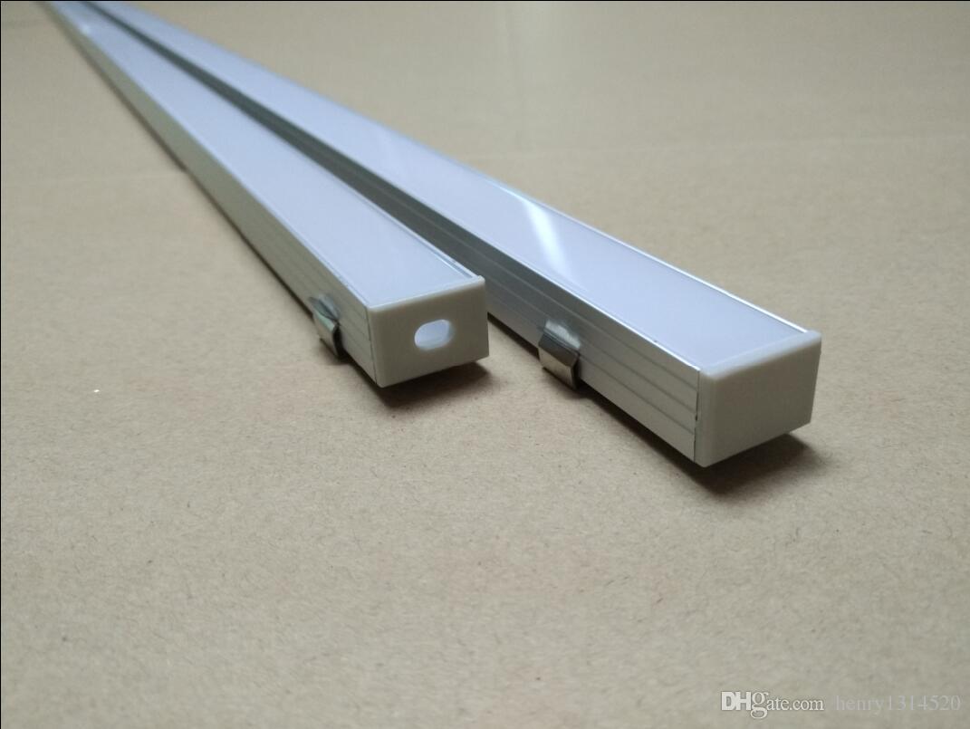 Articolo di vendita caldo di alta qualità di trasporto libero 40 m / lotto, profilo in alluminio 2 metri / pz LED con clip di montaggio tappi terminali