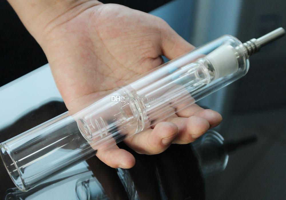 Super grande 20 centímetros de vidro Bubbler Água Bongos Smoking Water Pipe Vapor Blunt vaporizador Pinnacle Pro Vidro de vapor de água Tubos de vidro