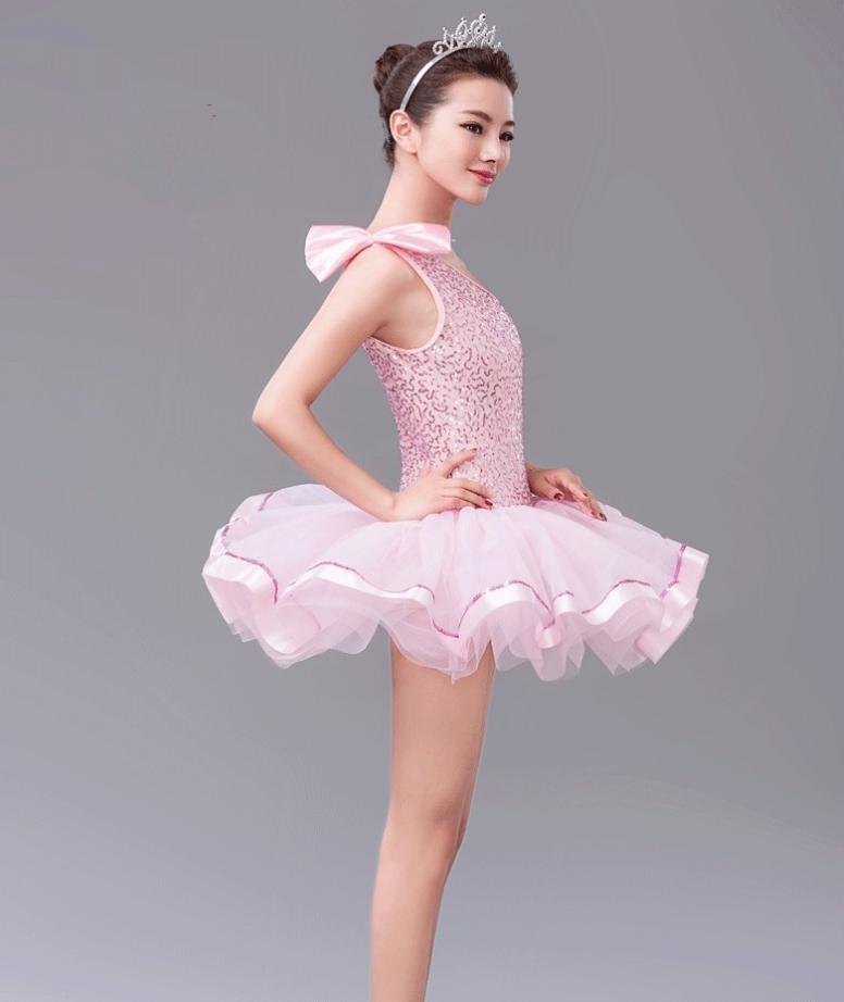 Girls Sequin Ballet Dance Dress Adults Ballet Tutu Leotard Dancewear Children Vestido Lentejuelas Dance Stage Performace Costume Canada 2019 From