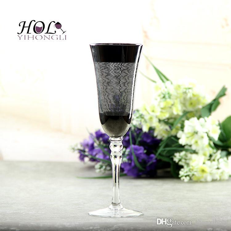 Galvanisierungschampagnerglas kundengebundene Champagnerflöte