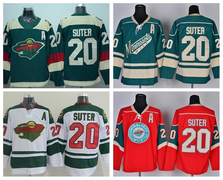 Minnesota Wild 20 Ryan Suter Stadium Series Трикотажные Изделия Хоккей Для Любителей Спорта Мужская Команда Цвет Зеленый Белый Красный Вышивать Лучшее Качество