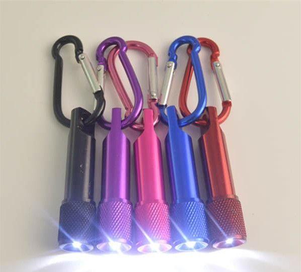 Il la cosa migliore Portachiavi portatile della torcia elettrica della lega di alluminio della torcia elettrica del mini LED con l'anello del moschettone Portachiavi LED mini Torcia elettrica Mini-trasporto libero della luce
