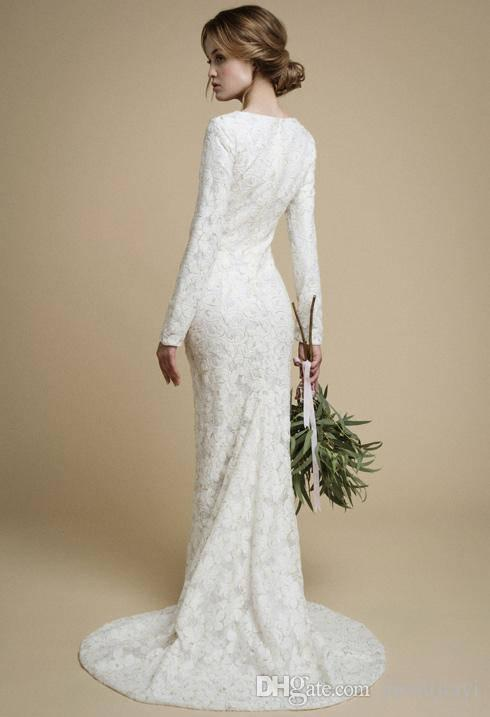 Tight-Fitting Lace Wedding Dresses
