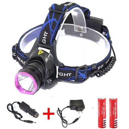 2000 Lumens CREE XM-L XML T6 CONDUZIU a Cabeça Farol Lâmpada Farol Lanterna Cabeça lâmpada de Luz 18650 + 2 x Carregador +2 ulltrafire 18650 bateria