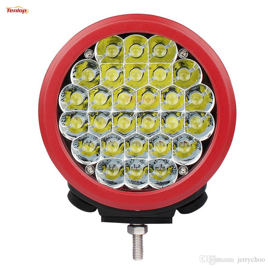 Super Bright 7 Inch Red Shell 140W Cree Front Bumper Light Headlight For Offroad 4*4 Wrangler Defender ATV