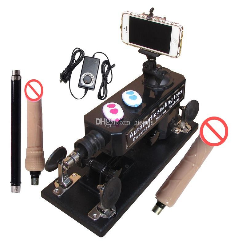 Automatic Sex Machine Gun Set A09 with Bluetooth Photograph and Video Swept the World Female Masturbation 0-450times/min Telescopic Sex toy