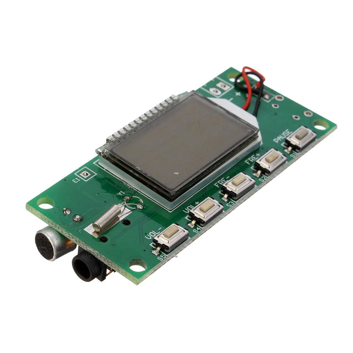Freeshipping DSP PLL 87-108MHz Digital Wireless Microphone Stereo FM Transmitter Module Board 26.5x49mm