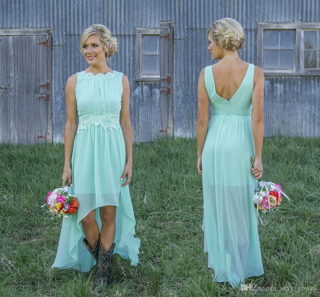 Mint Green Bridesmaid Dresses Coral Colored Short Bridesmaid Dress ...