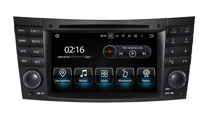 Android10.0 PX5 64G 7-дюймовый DVD-плеер автомобиля для Mercedes / Benz / E-Class / W211 / E300 / CLK / W209 / CLS / W219 / G-Class / W463 Canbus радио GPS навигация FM