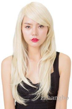 Full Lace Wigs Hot Brazilian #613 Blonde Virgin Hair Silk With Bangs Long Blonde Human Hair Wig Glueless Lace Wig With Baby Hair Weave Wig