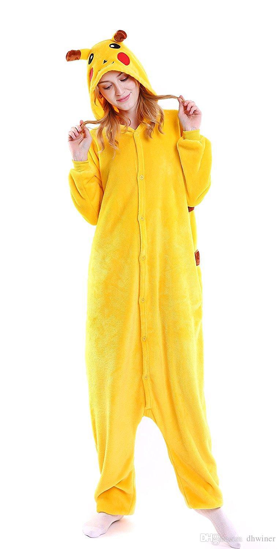 4b75fc44c Unisex Adultos Pijamas Onesie Kigurumi Trajes de Cosplay Traje Jumpsuit  Pikachu