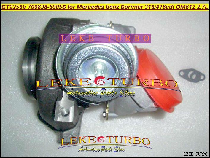 GT2256V 709838-5005S 709838-0004 709838 turbo for Mercedes benz Sprinter I Van 316CDI 416CDI OM612 2.7L turbocharger (1) (4)