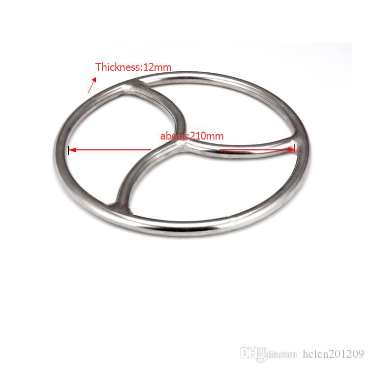Triskele Stainless Steel Bondage Ring suspension Shibari Fetish BDSM Sex Toy NUOVO ARRIVO A132 A133