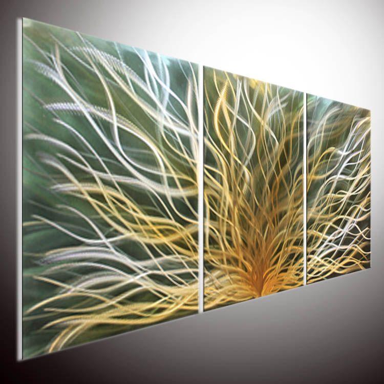 Parete moderna moderna della parete della pittura a olio di arte del metallo. Pittura murale arte della parete. METAL WALL ART Pittura su alluminio. Parete della scultura in metallo